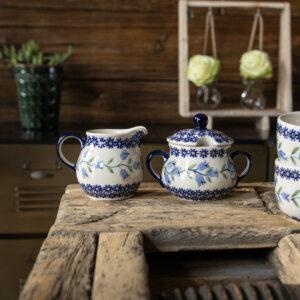 Bunzlauer Keramik Zuckerdose & Milchkännchen 2er Set ASD