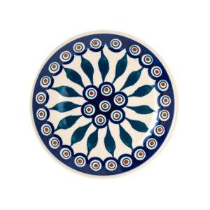 Bunzlauer Keramik Dessertteller 18cm Dekor 54 Handarbeit - 2.Wahl