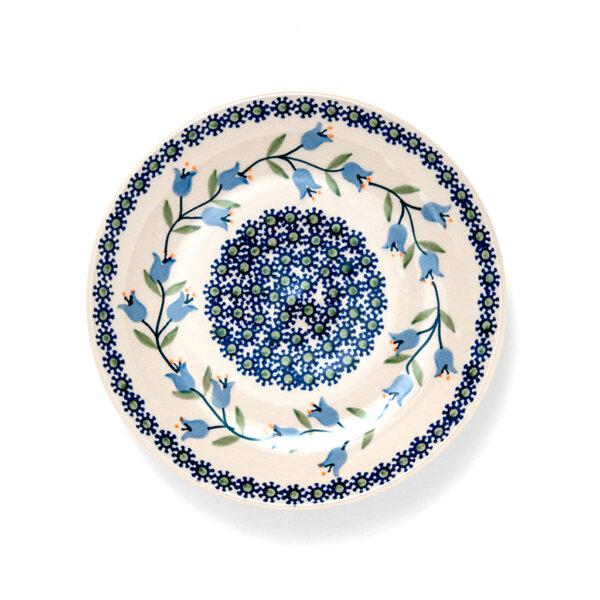 Bunzlauer Keramik Dessertteller 18cm Dekor ASD Handarbeit - 2.Wahl