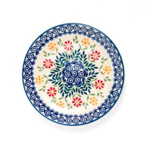 Bunzlauer Keramik Dessertteller 18cm Dekor JS14 Handarbeit - 2.Wahl