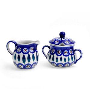 Bunzlauer Keramik Zucker & Milch Set 54