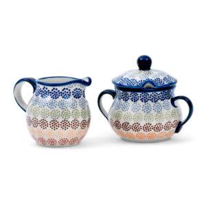 Bunzlauer Keramik Zucker & Milch Set AS37 Unikat Modern