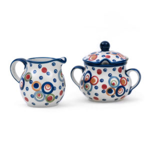 Bunzlauer Keramik Zucker & Milch Set Unikat Modern