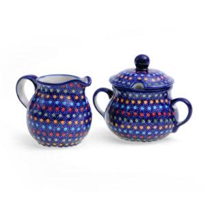 Bunzlauer Keramik Zucker & Milch Set IZ17 Unikat Modern