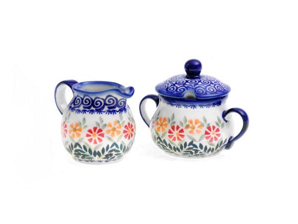 Bunzlauer Keramik Zucker & Milch Set JS14
