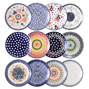 Bunzlauer Keramik Frühstücksteller 18cm 12er Set Handarbeit Neu