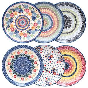 Bunzlauer Keramik Speiseteller Essteller 26cm 6er Set Handarbeit