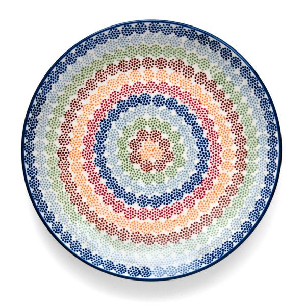 Bunzlauer Keramik Speiseteller Essteller 26cm AS37 Unikat Handarbeit - 2.Wahl