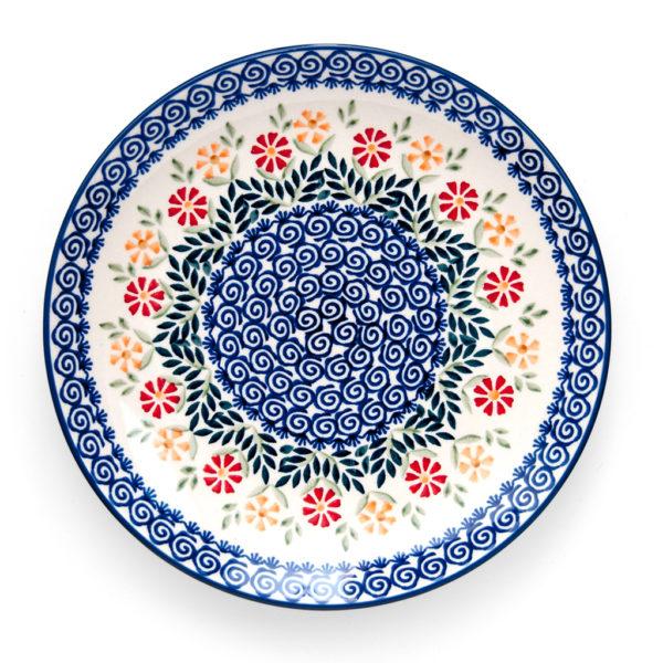 Bunzlauer Keramik Speiseteller Essteller 26cm Dekor JS14 Handarbeit - 2.Wahl