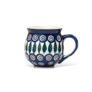 Bunzlauer Keramik Kugelbecher 300 ml Dekor 54