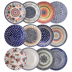 Bunzlauer Keramik Suppenteller Pastateller 24 cm 12er Set