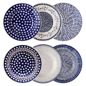 Bunzlauer Keramik Suppenteller Pastateller 24 cm 6er Set Handarbeit