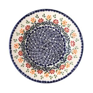 Bunzlauer Keramik Suppenteller 24cm Dekor JS14
