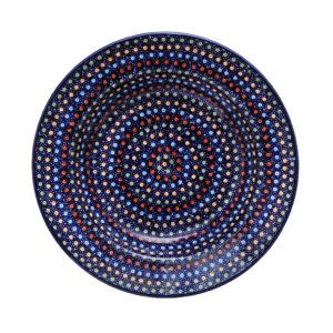 Bunzlauer Keramik Suppenteller 24cm Dekor IZ20 Unikat signiert Handarbeit - 2.Wahl