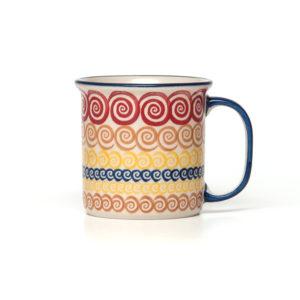 Bunzlauer Keramik Becher 350 ml CMZK Unikat Modern