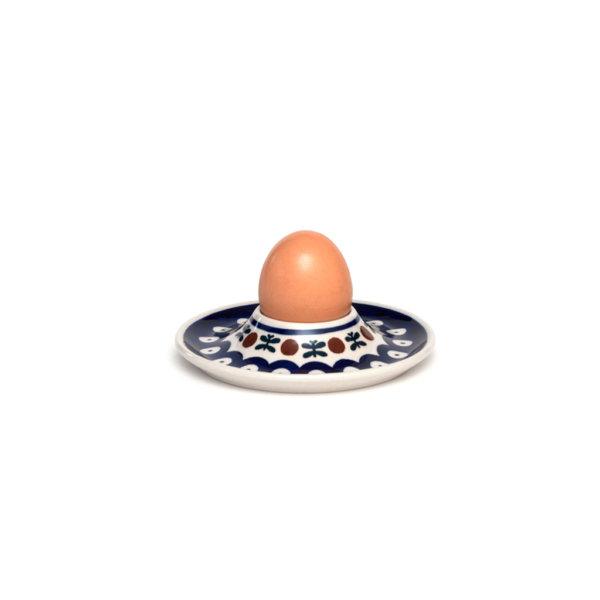 Bunzlauer Keramik Eierbecher flach mit Unterteller Dekor 70
