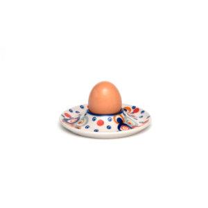 Bunzlauer Keramik Eierbecher mit Unterteller Unikat Modern