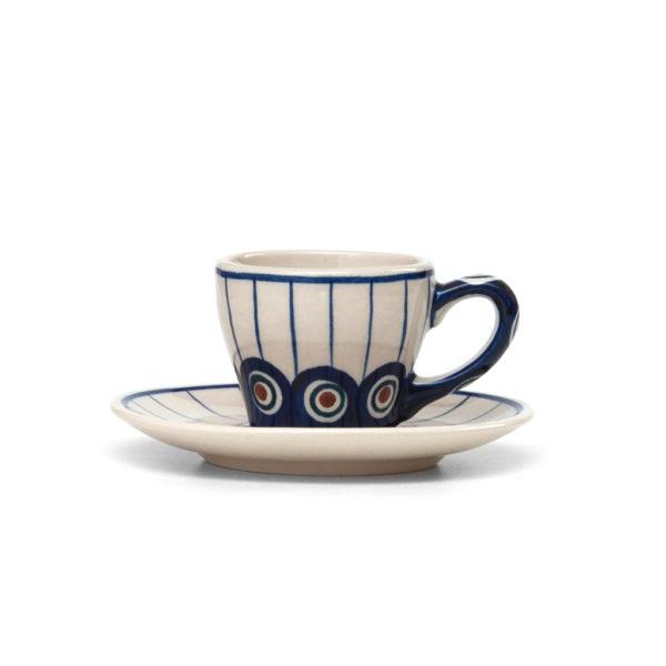 Bunzlauer Keramik Espressotasse mit Untertasse 70ml 54A