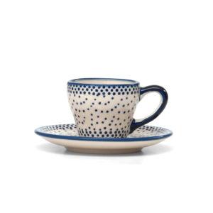 Bunzlauer Keramik Espressotasse mit Untertasse 70ml 61A Unikat