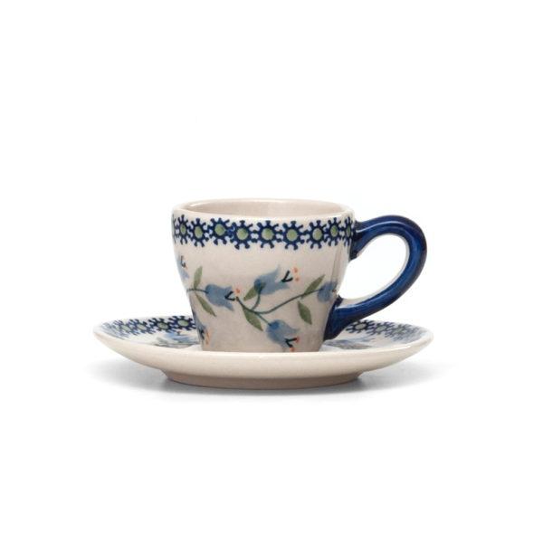 Bunzlauer Keramik Espressotasse mit Untertasse 70ml Dekor ASD