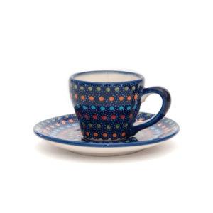 Bunzlauer Keramik Espressotasse mit Untertasse 70ml Unikat Modern
