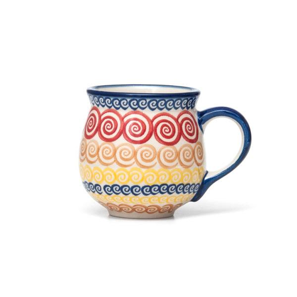 unzlauer Keramik Kugelbecher 300 ml Dekor Unikat Modern
