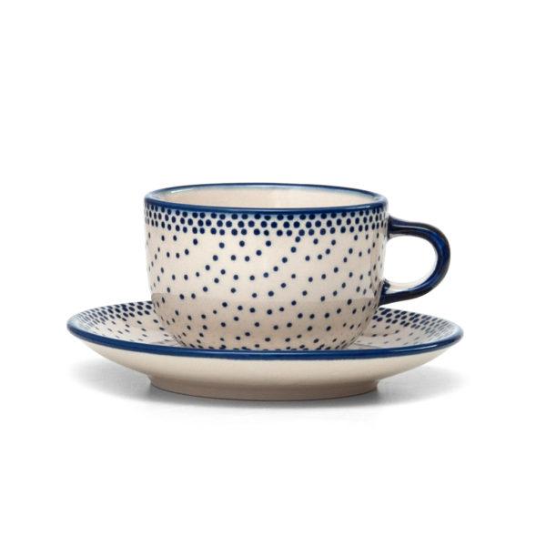 Bunzlauer Keramik Tasse mit Untertasse 200ml 61A Unikat