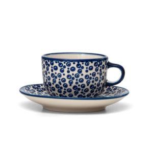 Bunzlauer Keramik Tasse mit Untertasse 200ml MAGD Handarbeit