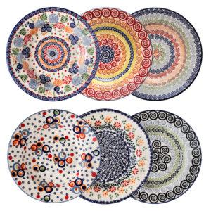 Bunzlauer Keramik Suppenteller Pastateller 24 cm 6er-Set