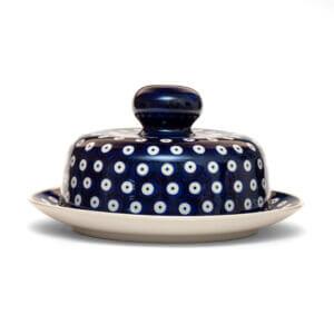 Bunzlauer Keramik Käseglocke mit Deckel 21cm Frischhalteglocke 2tlg. Dekor 70A