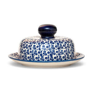 Bunzlauer Keramik Käseglocke mit Deckel 21cm Frischhalteglocke 2tlg. Dekor MAGD