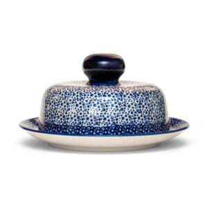Bunzlauer Keramik Käseglocke mit Deckel 21cm Frischhalteglocke 2tlg. Dekor MAGM