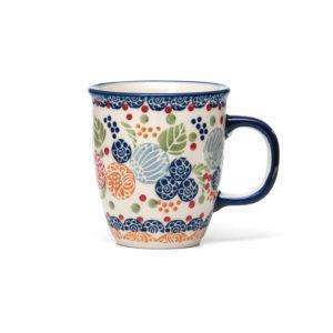 Bunzlauer Keramik Becher Tasse 300 ml Dekor KOKU Unikat Modern signiert