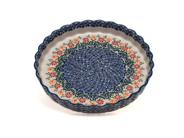 Bunzlauer Keramik Quiche Backform 30cm Dekor JS14 Handarbeit
