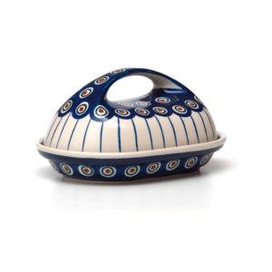 Bunzlauer Keramik Butterdose oval Dekor 54a