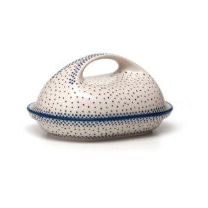 Bunzlauer Keramik Butterdose oval Dekor 61A Unikat