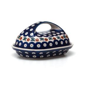 Bunzlauer Keramik Butterdose oval Dekor 70