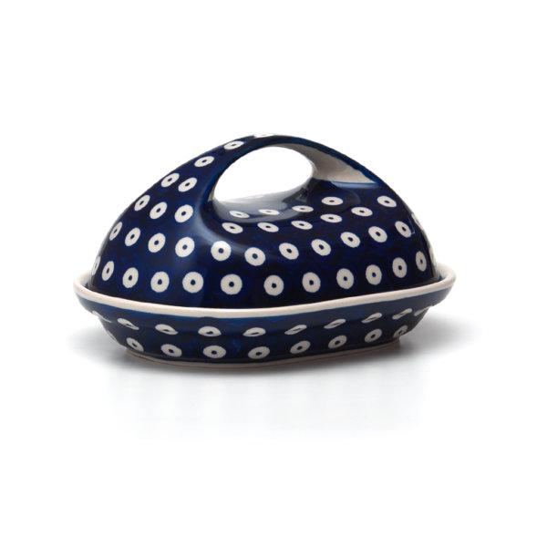 Bunzlauer Keramik Butterdose oval Dekor 70a