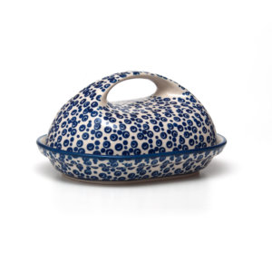 Bunzlauer Keramik Butterdose oval Dekor MAGD
