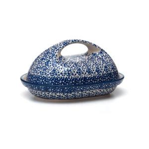 Bunzlauer Keramik Butterdose oval Dekor MAGM