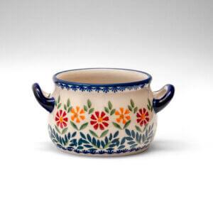 Bunzlauer Keramik Suppentasse 11cm Dekor JS14 Handarbeit