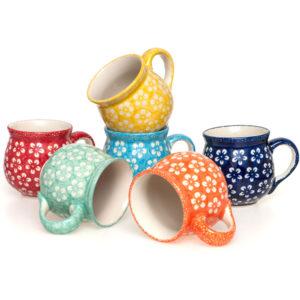 Bunzlauer Keramik Becher 6er-Set Kolor Love bunzlauerhandwerk.de