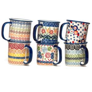 Bunzlauer Keramik Becher 350ml 6er Set mehrfarbigNeu