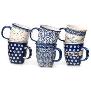 Bunzlauer Keramik Becher Tassen 300 ml 6er Set Handarbeit