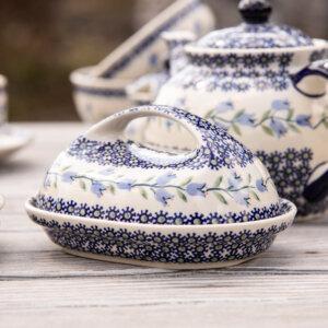 Bunzlauer Keramik Butterglocke für 250g Butter Dekor ASD Handarbeit