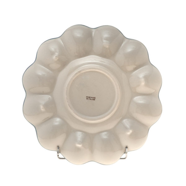 Bunzlauer Keramik Eierplatte 26cm Dekor AS37 Unikat Modern