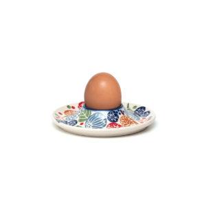 Bunzlauer Keramik Eierbecher mit Unterteller KOKU Unikat Modern signiert