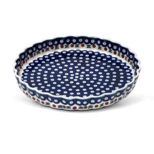 Bunzlauer Keramik Obstkuchenformen Quiche groß 30cm Dekor 70