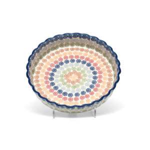 Bunzlauer Keramik Quiche Tarteform 23cm Dekor AS37 Unikat Modern