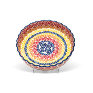 Bunzlauer Keramik Quiche Tarteform 23cm Dekor CGZC Unikat Modern